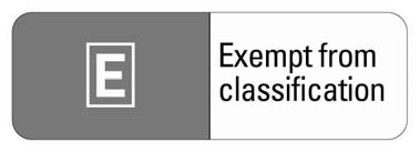 Exempt from Classification